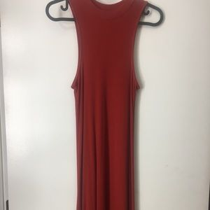 xs mossimo co red orange dress
